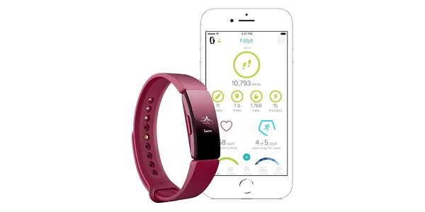 Fitness náramek Fitbit Inspire - Sangria (FB412BYBY)4