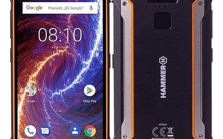 Mobilní telefon myPhone HAMMER ENERGY 18X9 LTE černý/oranžový (TELMYAHENER189LOR)