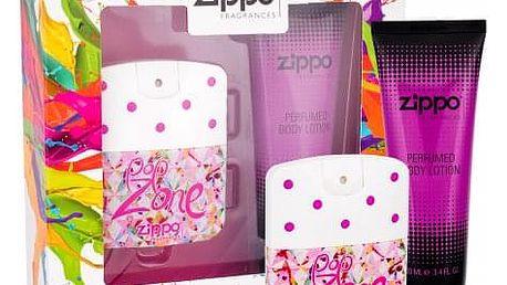Zippo Fragrances Popzone dárková kazeta pro ženy toaletní voda 40 ml + tělové mléko 100 ml