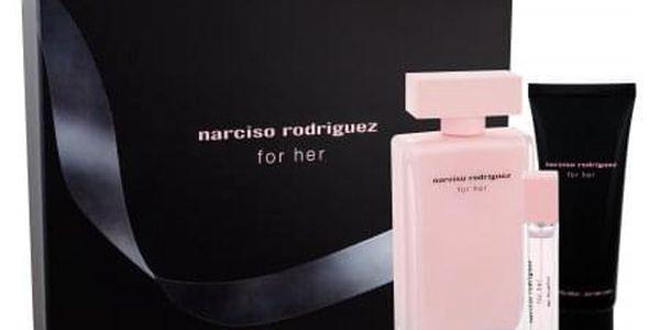 Narciso Rodriguez For Her dárková kazeta pro ženy parfémovaná voda 100 ml + tělové mléko 75 ml + parfémovaná voda 10 ml