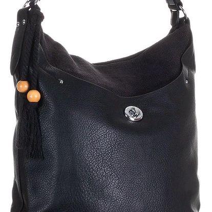 TESSRA Milano Dámská velká kabelka s ozdobným střapcem