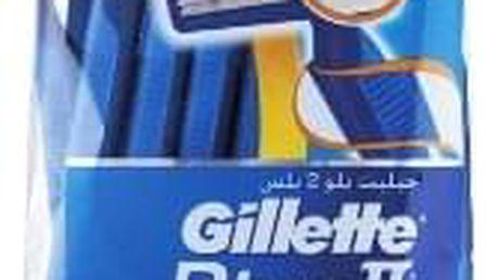 GILLETTE Blue II Plus Sensitive 10+4ks - pohotová holítka