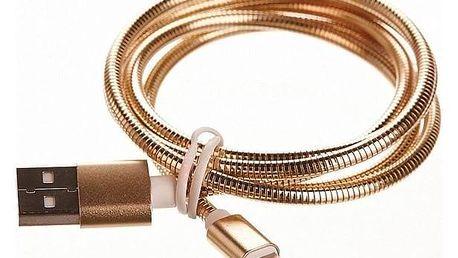 CellFish USB/Lightning, kovový, 1m zlatý (CELLKOVGOLDAPP)