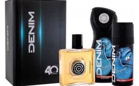 Denim Original dárková kazeta pro muže voda po holení 100 ml + sprchový gel 250 ml + deodorant 150 ml