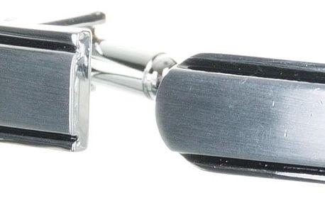 Manžetové knoflíky do tvaru U z chirurgické oceli, rhodiované chirurgická ocel kulaté bez kamínku MK0073-0112