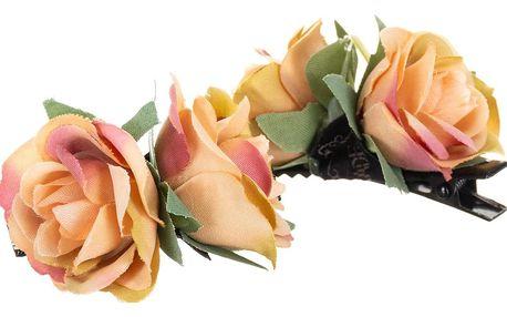 Vlasové skřipce růže sada 2 ks VS0024-11