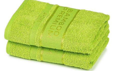 4Home Bamboo Premium ručník zelená, 50 x 100 cm, sada 2 ks
