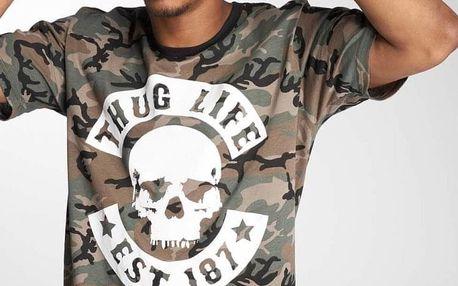 Thug Life / T-Shirt B. Camo in camouflage 3XL