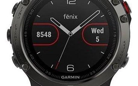 GPS hodinky Garmin Fenix 5 černé/šedé (010-01688-00)
