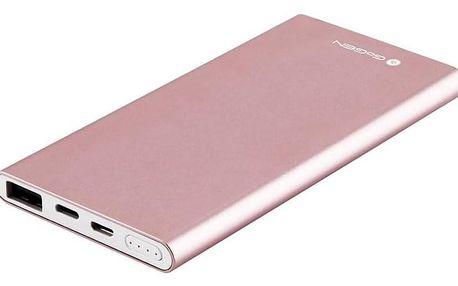 Powerbank GoGEN 5000 mAh, Lightning růžová (PB50001PW)