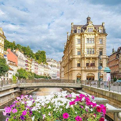 Karlovy Vary v hotelu v centru lázeňské zóny se snídaní/polopenzí i se vstupem do Alžbětiných lázní