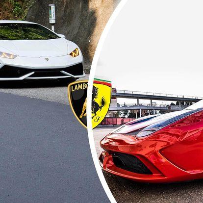 Jízda v Lamborghini Gallardo a Ferrari 458 Italia