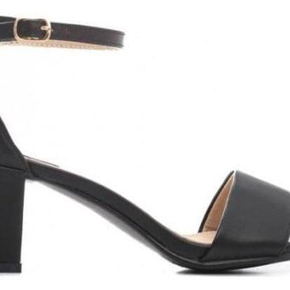 Černé sandály na podpatku Jomi 7313