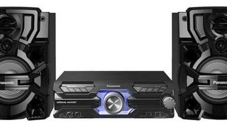 HiFi systém Panasonic SC-AKX710E-K černý + dárek Sluchátka Panasonic RP-HF300E-K černá v hodnotě 597 Kč