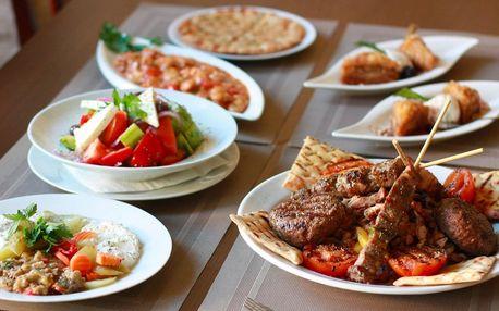 Řecké degustační menu i s lahví vína pro 2 osoby
