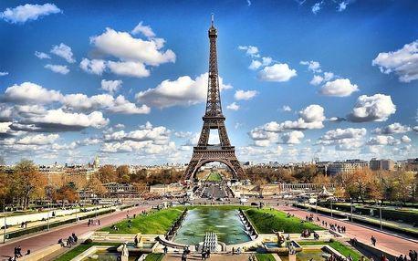 Francie - Paříž na 3 až 4 dny, snídaně s dopravou letecky z Prahy