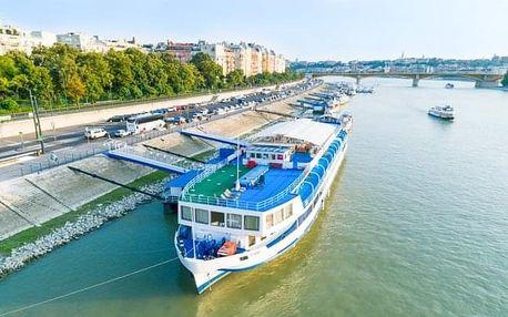 Budapešť originálně na lodi ve Fortuna Boat Hotelu *** s polopenzí a vínem