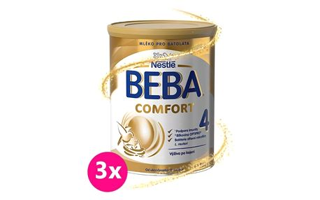 3x BEBA Comfort 4 (800g) - kojenecké mléko