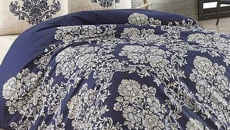 BedTex Bavlněné povlečení Estella modrá, 140 x 220 cm, 70 x 90 cm, 50 x 70 cm, 140 x 220 cm, 70 x 90 cm