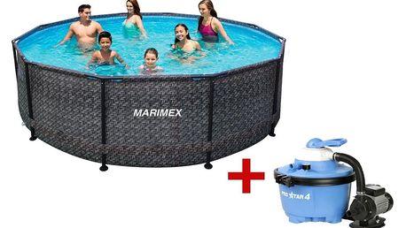Marimex | Bazén Florida 3,66x0,99 m - motiv RATAN s pískovou filtrací | 19900076