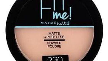 Maybelline Fit Me! Matte + Poreless kompaktní matující pudr 14 g odstín 230 Natural Buff