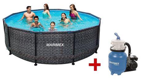 Marimex | Bazén Florida 3,05x0,91 m s pískovou filtrací - motiv RATAN | 19900079