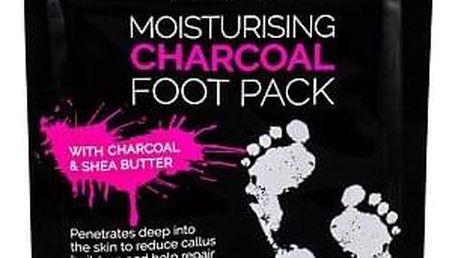 Xpel Body Care Charcoal hydratační ponožky s aktivním uhlím 1 ks pro ženy