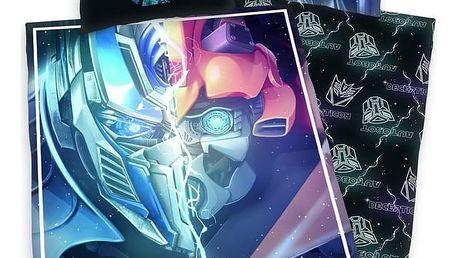 Herding Dětské bavlněné povlečení Transformers Poslední rytíř, 140 x 200 cm, 70 x 90 cm