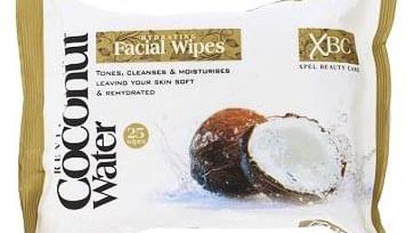 Xpel Coconut Water Hydrating Facial Wipes čistící ubrousky na odstranění make-upu 25 ks pro ženy