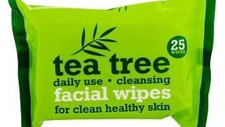Xpel Tea Tree ubrousky pro svěží a čistou pleť 25 ks pro ženy