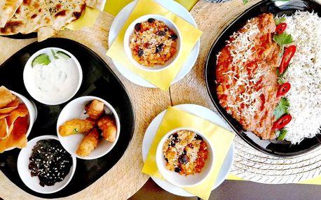 Indická hostina: menu pro 2 nebo pro 4 osoby