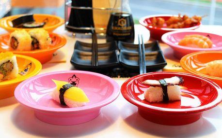 Snězte, co můžete: 2 hod. running sushi pro 1 os.