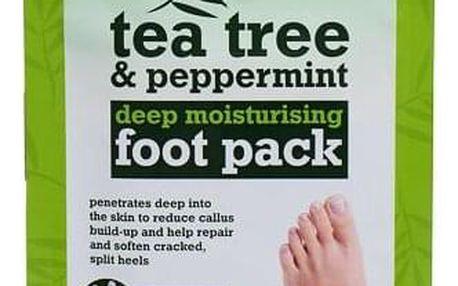 Xpel Tea Tree Tea Tree & Peppermint Deep Moisturising Foot Pack hydratační péče na chodidla 1 ks pro ženy
