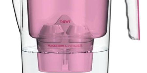 BWT filtrační konvice Vida 2,6 l, růžová + 1 x filtr