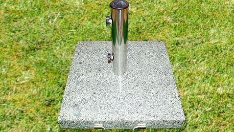 Garthen 926 Stojan na slunečník - žula / nerezová ocel, 40 kg