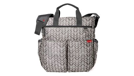 SKIP HOP Přebalovací taška s podložkou Duo Signature Grey Feather