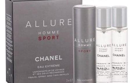 Chanel Allure Homme Sport Eau Extreme 3x20 ml toaletní voda Twist and Spray pro muže miniatura