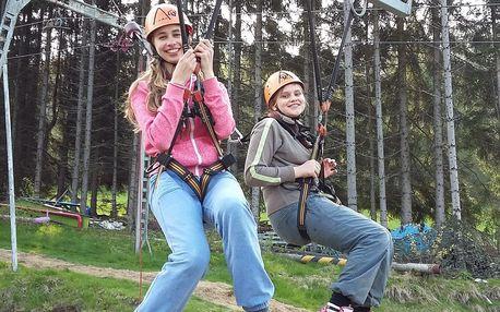 Adrenalinový minitábor pro děti pod vyhlídkou Jedlová
