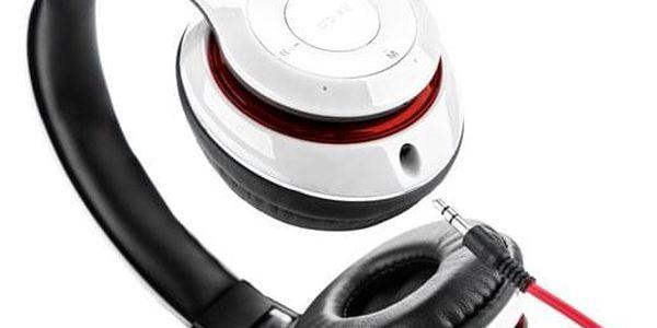 Sluchátka GoGEN HBTM 41WR bílá/červená (HBTM 41WR )