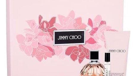 Jimmy Choo Jimmy Choo dárková kazeta pro ženy parfémovaná voda 100 ml + tělové mléko 100 ml + parfémovaná voda 7,5 ml