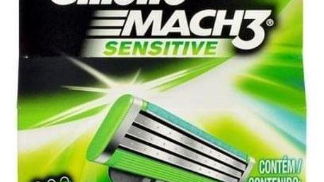 Gillette Mach3 Sensitive 4 ks náhradní břit pro muže
