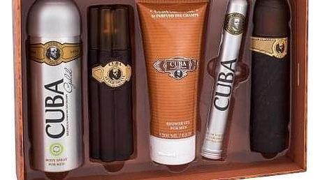 Cuba Gold dárková kazeta pro muže toaletní voda 100 ml + voda po holení 100 ml + sprchový gel 200 ml + deodorant 200 ml + toaletní voda 35 ml