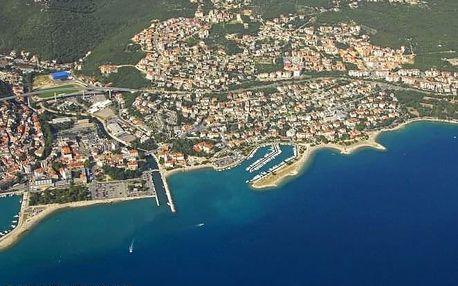 Chorvatsko - Crikvenica na 10 dní, bez stravy s dopravou autobusem