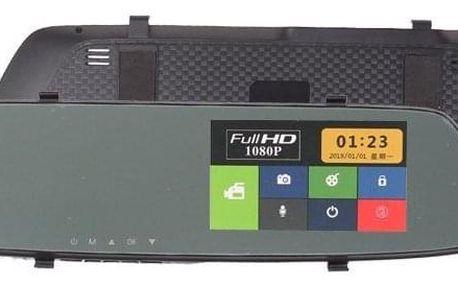 Autokamera dotykové zpětné zrcátko DVR Full HD 1080P