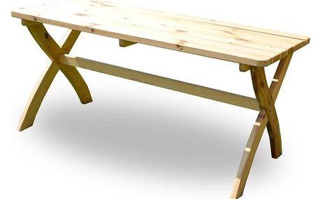 Tradgard STRONG 2722 Zahradní dřevěný stůl přírodní FSC