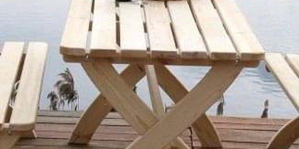 Tradgard STRONG 2722 Zahradní dřevěný stůl přírodní FSC4