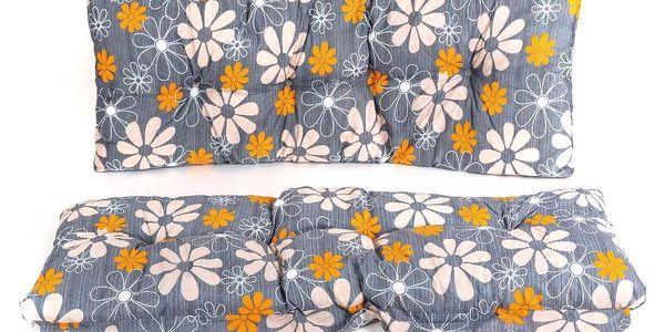 Vetro-Plus Polstr na houpačku 130 cm, vzor květy2