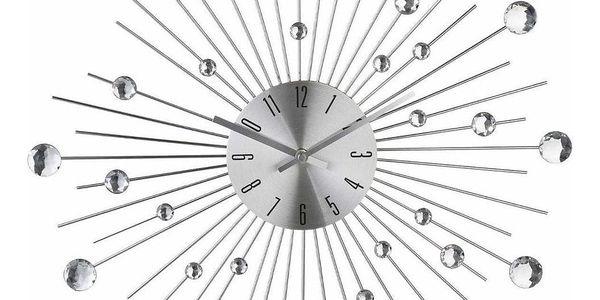 Atmosphera Créateur d'intérieur Nástěnné hodiny s křišťály, nejmódnější ozdoba ve tvaru, který je in