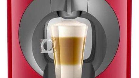 Espresso Krups NESCAFÉ Dolce Gusto Oblo KP110531 červené + dárek Kapsle pro espressa NESCAFÉ Dolce Gusto® Latte Macchiatto BOX