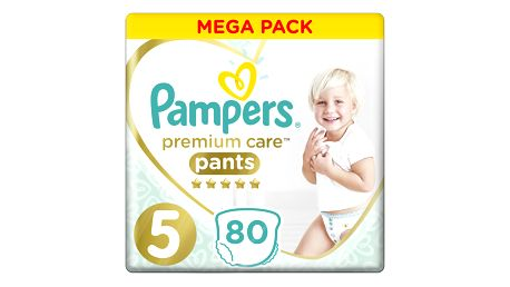 PAMPERS Premium Care Pants 5 JUNIOR (12-17 kg) 80 ks MEGA BOX – plenkové kalhotky